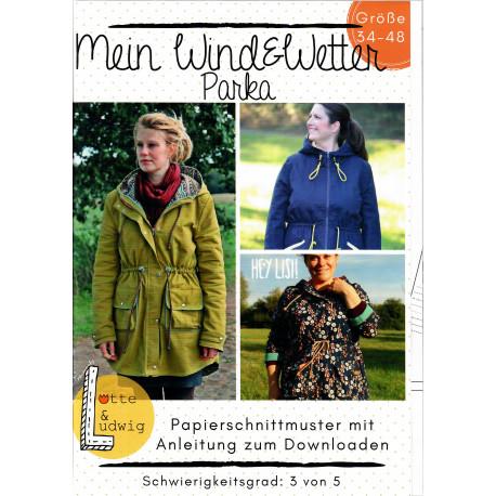 2bf865208d Schnittmuster Nähanleitung Mein Wind&Wetter Parka 34-48