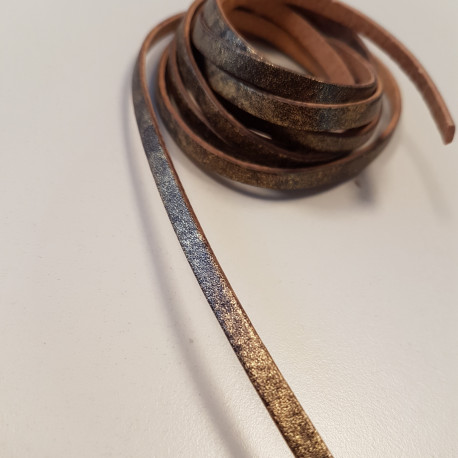 sale retailer 81455 99415 Lederband mit Goldpattina - littlefeet.ch